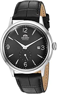 """Orient Men's""""Bambino Small Seconds"""" Japanese-Automatic Watch with Leather Strap, 21 mm"""