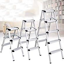 ZRABCD Ladder Home Safety Estabilidad Escaleras, Escalera Telescópica Portátil Multiusos, Escalera Plegable de la Escalera...