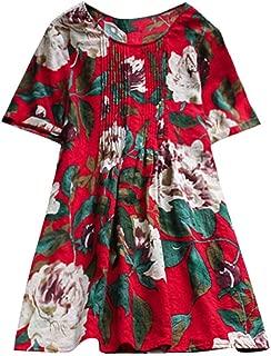 Womens Long Sleeve Shirt, V-Neck Shirt Tee Top Blouse Floral Print Jumper Tunic Plus Size Long Shirt
