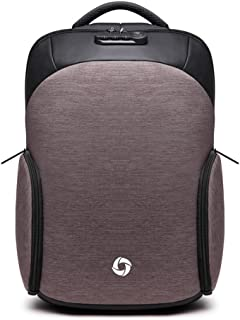 35L Laptop Backpack with Hat Waterproof Anti-Theft Casual Daypack with USB Charging Port Rucksack College Book Bag Cycling Outdoor Backpack (Light Coffee)