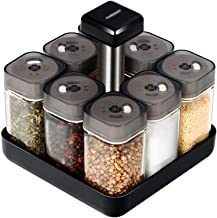 SPNEC Covered Glass Condiment Seasoning Bottle Storage Bottle Salt Pepper Cumin Powder Box Tool Kitchen Supplies