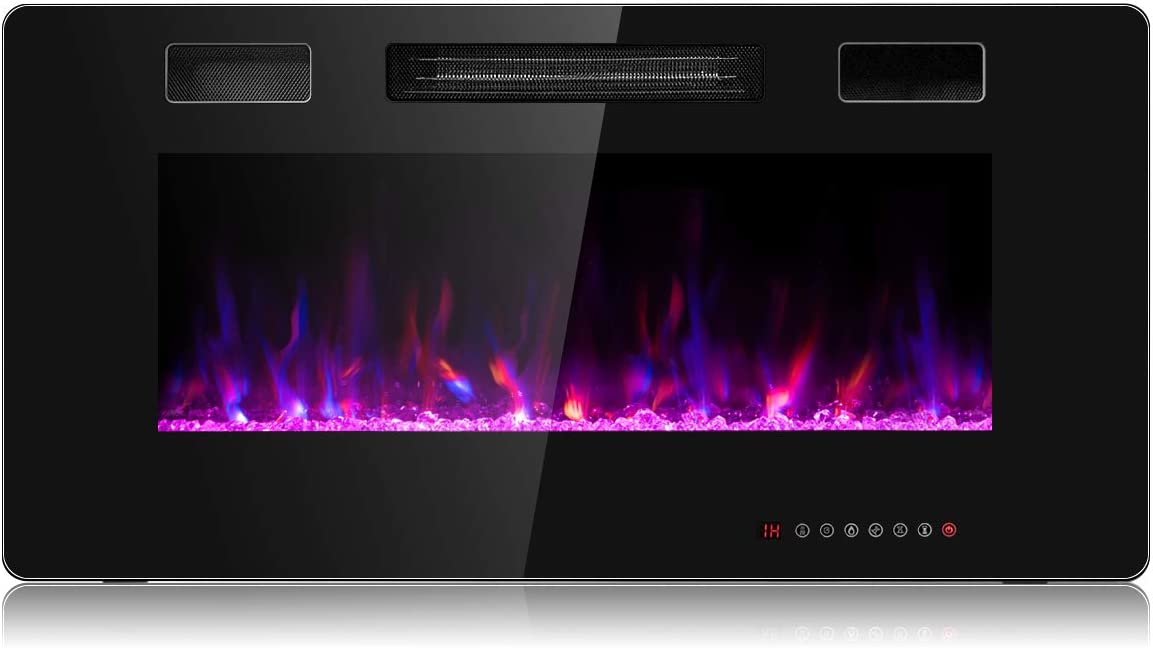 GOFLAME 36 Inch Electric Fireplace and Wall 25% OFF List price Fi Recessed Mounted