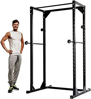 Goplus Power Rack Heavy Duty Adjustable Power Cage Multi-Function Fitness Squat Cage for a Complete Home Gym, Strength Training and Muscle Building