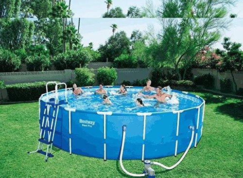 BES097, runder Pool, 366 x 122 cm, mit Motor, für Sommer, Meer, Strand und Garten