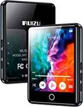 "RUIZU MP3 Player with Bluetooth 5.0,16GB 2.4"" Full Touch Screen with Speaker,Portable Audio HiFi Sound Mp3 Music Player with FM Radio, Voice Recorder, E-Book, Supports up to 128GB TF Card Black"