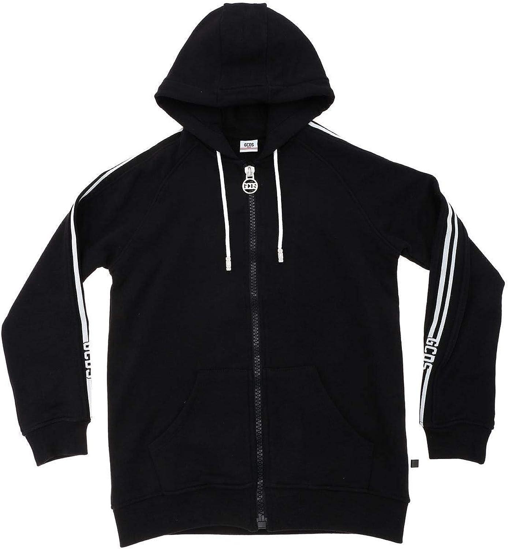 GCDS Boys 019493110 Black Cotton Sweatshirt
