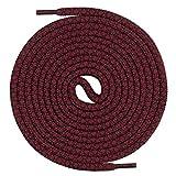 Mount Swiss runde Premium-Schnürsenkel für Arbeitsschuhe Wanderschuhe und Trekkingschuhe - 100% Polyester - extrem reißfest - ø 5 mm - Farbe Weinrot-Schwarz Länge 70cm