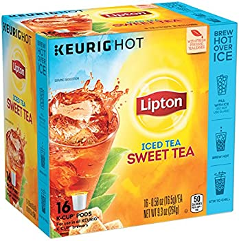 4-Pack Lipton Iced Tea K-Cup Sweet Tea, 16 ct