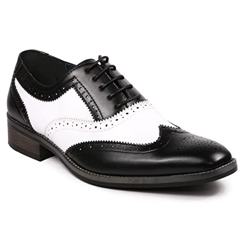 White And Black Dress Shoe Amazon