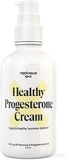 Sponsored Ad - Supplement Spot Healthy Progesterone Cream - Women's Health Support: Paraben-Free (4 oz.)