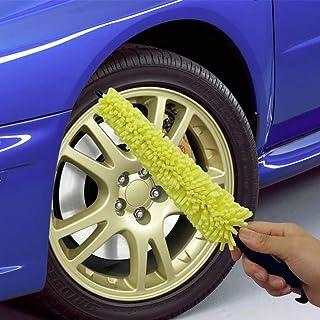 Kikier All in One Detail Pinsel für Auto und Autoräder, mit integriertem Radmutter Reiniger. Aus flexibler Mikrofaser ohne freiliegende Metallteile, kratzt nicht (1 Pinsel)
