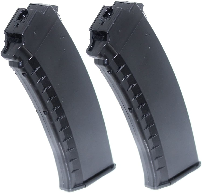 Airsoft Gear Parts Accessories 2pcs 60rd MidCap Magazine For Tokyo Marui Next Gen AK AEG Black