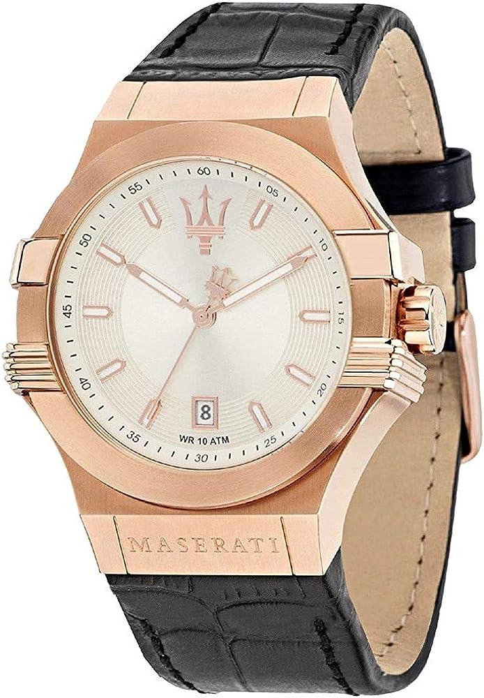 Maserati orologio uomo con cinturino in pelle R8851108019