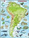 Larsen A25 América del Sur, edición en Sueco, Puzzle de Marco con 65 Piezas