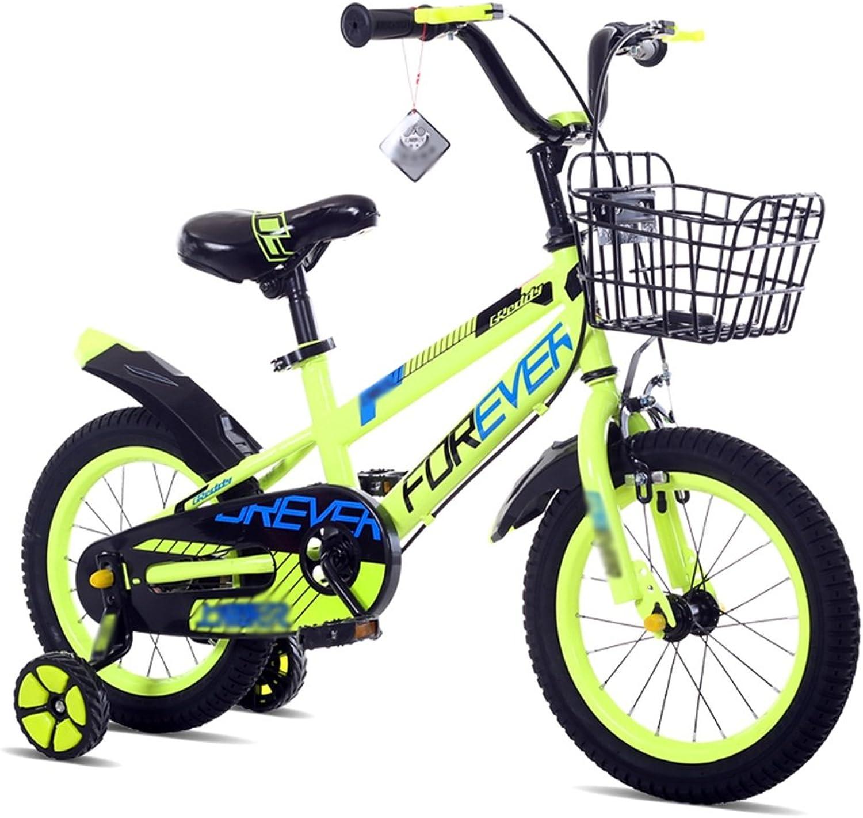 ZHIRONG Kinderfahrrad Rad Des Jungen Und Fahrrad Des Mdchens Mit Trainingsrad 12 Zoll, 14 Zoll, 16 Zoll, 18 Zoll Outdoor-Ausflug ( Farbe   Grün , gre   14 inch )