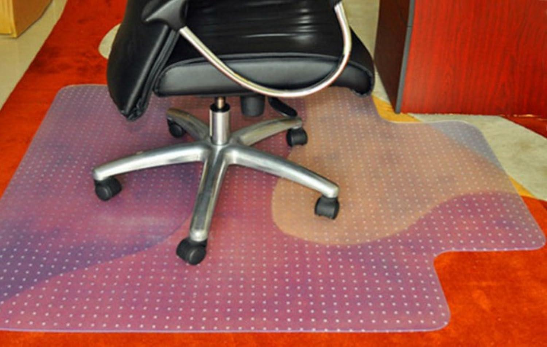 PVC Carpet Predector Transparent,Wood Flooring,Predector Cushions Computer Desk and Chair mat-A 90x120cm(35x47inch)