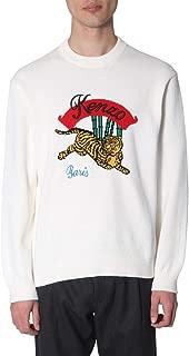 Kenzo Luxury Fashion Mens F955PU2573XC01 White Sweater | Spring Summer 19