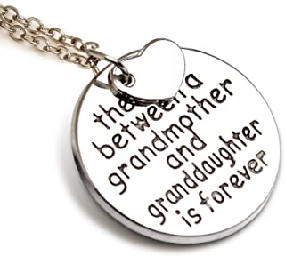 """Grandma Pendant Necklace """"The love between a grandmother and granddaughter is forever"""" - 18''"""