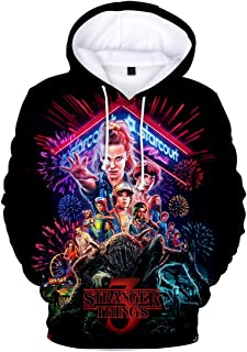 FLYCHEN Sudadera Stranger Things 3 New Season para Niñas 3D Impreso Digital Select Your Character Portrait de Manga Larga ...