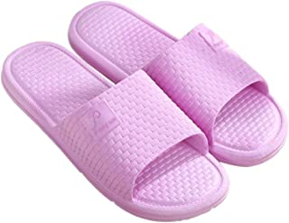 KINDOYO Slippers Women - Unisex Pool Shoes Non-Slip Sandals Open-Toe Indoor Slippers with Soft PVC Sole