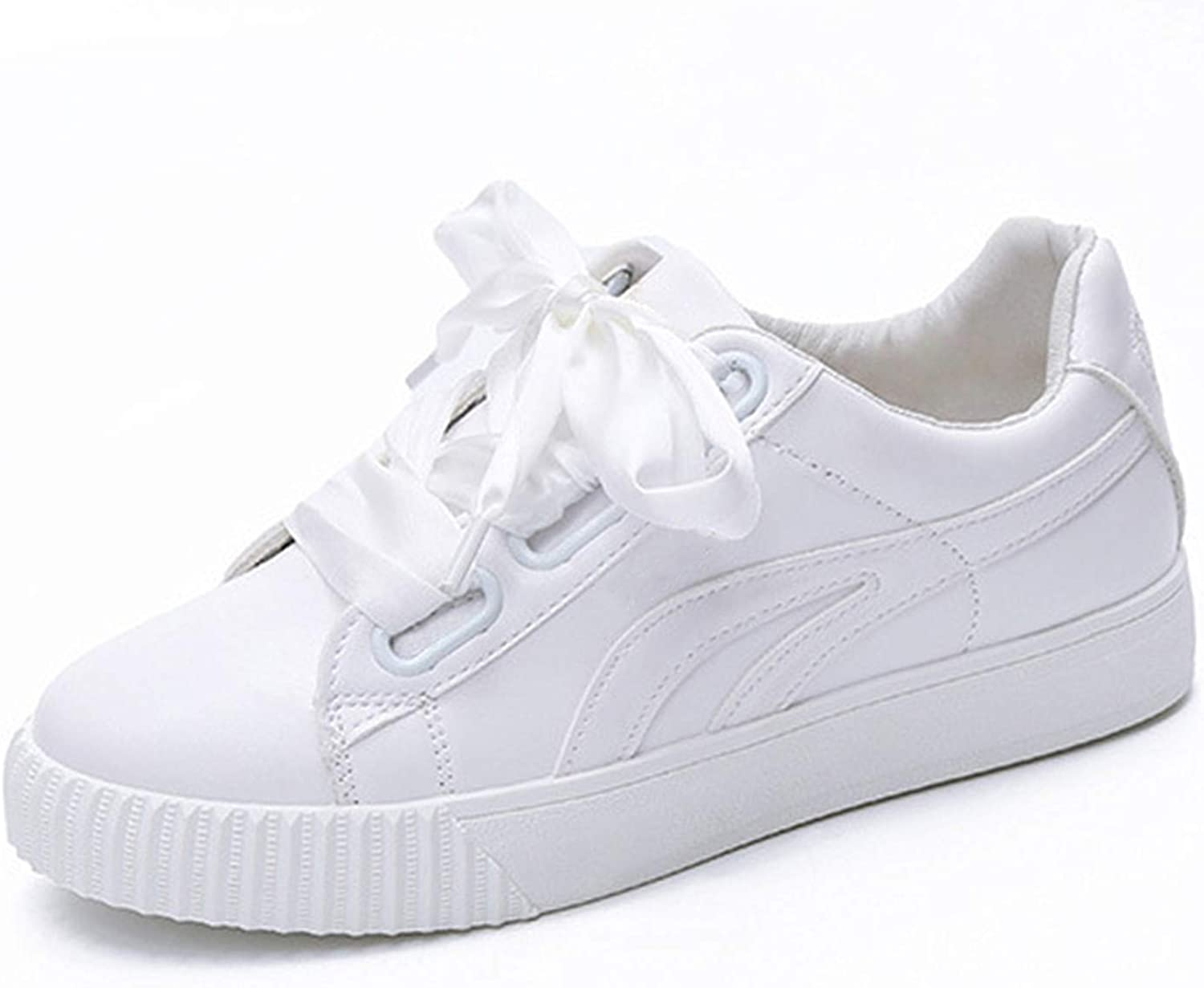 Carolyn Jones Women Sneakers Ribbon Vulcanized shoes Platform Casual Flats Lace Up Sewing Ladies Footwear White 6