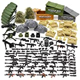 Feleph Military Army Toy, WW2 Soldier Weapons Building Blocks Bricks, Gear Battle Accessories Pack, for SWAT Team Figures, Custom Modern Assault Rifles Toy, DIY Gift for Boys Kids