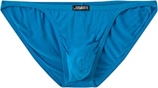 Mens Bikini Briefs Underwear Low Rise Breathable Comfortable Bamboo Briefs (Colors May Vary)