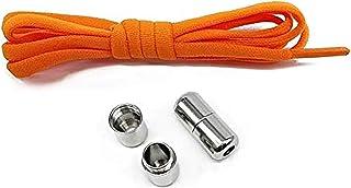 SOLDOUT™ Elastic No Tie Shoelaces Metal Lock Shoe Laces For Kids Adult Sneakers Quick Shoelaces Semicircle Shoestrings (1 ...