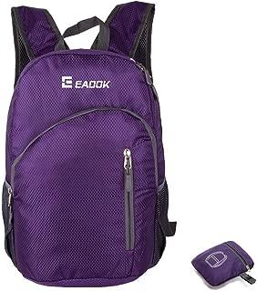 Foldable Backpack 20-35L Ripstop ultralight Packable Backpack Waterproof(PURBLE