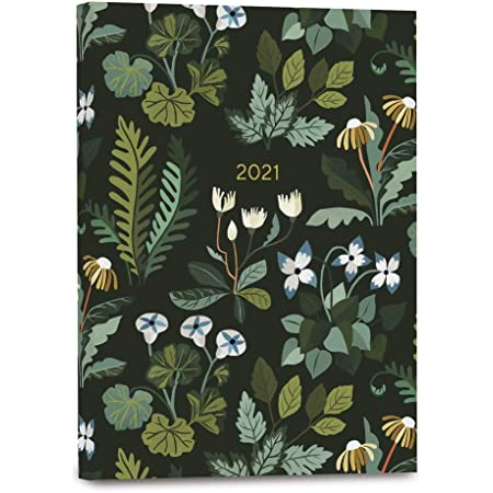 """High Note 2021 Planner by Carrie Shryock, Greenery Midnight Garden 18-Month Softcover Planner, July 2020 - December 2021, 5.75"""" x 7.75"""" (CHZ0964)"""