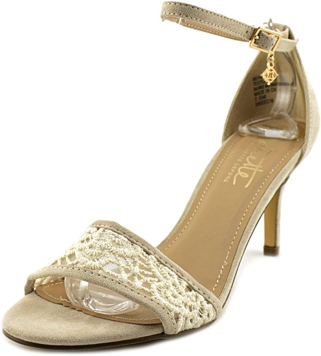 Nanette Lepore Womens Beauty Open Toe Casual Ankle Strap, Ivory, Size 7.5