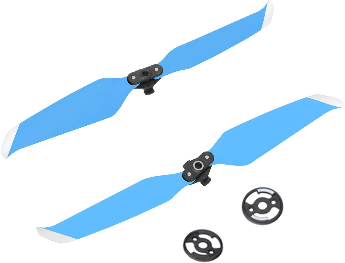 RED Hanatora 1 Pairs Low-Noise Propellers and Mounting Plate for DJI Mavic Air 2 Drone,7238 Replacement Spare Quick-Release Props Blades Accessory Part