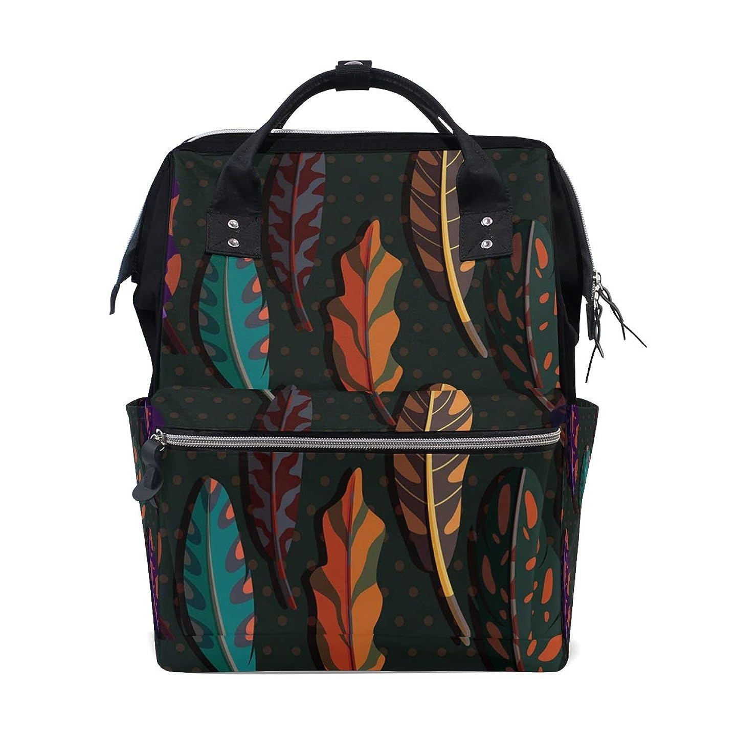 Boho Feather School Backpack Large Capacity Mummy Bags Laptop Handbag Casual Travel Rucksack Satchel For Women Men Adult Teen Children