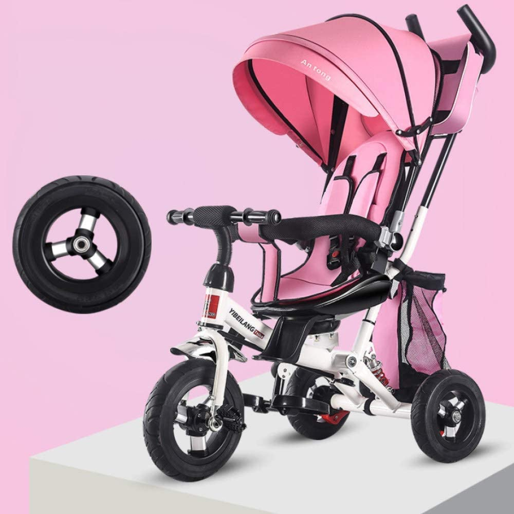 Bicicleta Bicicleta Plegable Bicicleta para niños Amortiguador Cochecito para niños Triciclo Asiento Plegable Bicicleta reclinable Bicicleta Plegable 1-3-5 años