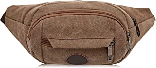 Men's and Women's Sports Leisure Waist Pack, Multifunction Large Capacity Waist Bag Crossbody Chest Bag Place Various Documents for Cycling Sport Travel, Mountain Climbing (Color : Brown)