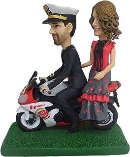 Boda en motocicleta Motocicleta Divertido pastel de bodas Topper Sr. Sra. Novia Novio con moto