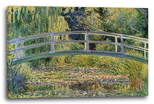 Leinwand (100x70cm): Claude Monet - Japanische Brücke über den Seerosenteich (1