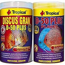 Tropical 1 L Discus Granulat D-50 Plus + 1 L Discus Flocken D-50