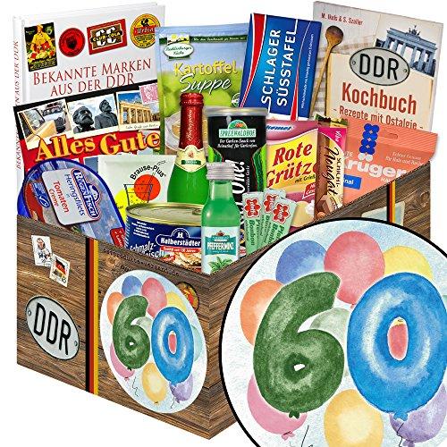 60. Geburtstag / Geschenke zum 60 Geburtstag Frau / DDR Spezialitäten-Box