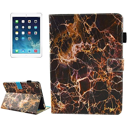 For iPad 9.7 inch 2017 / iPad Air/iPad Air 2 Universal Colorful Marble Pattern Horizontal Flip Leather Protective Case with Holder & Card Slots & Sleep Accessory Compatible Replacement