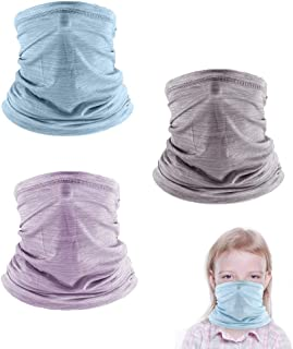 3 Pcs Cooling Kids Neck Gaiters, Summer Face Cover for Kids, Face Scarf Bandana for Boys Girls Outdoor