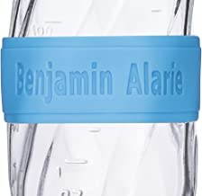 Custom Baby Bottle Labels for Daycare Blue Pink or Orange 4 Pack Sippy Cup Labels Personalized Bands