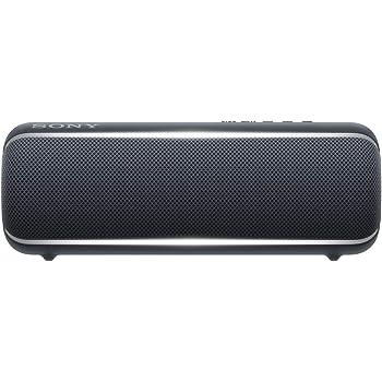 ソニー ワイヤレスポータブルスピーカー SRS-XB22  :  防水 / 防塵 / 防錆 / Bluetooth / 重低音モデル / マイク付き/  最大12時間連続再生  2019年モデル / マイク付き/  ブラック  SRS-XB22 B