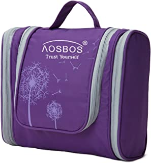 Rose Red Aosbos 40L Sports Gym Duffle Bag Travel Tote Carry on Weekend Overnight Bag for Men and Women