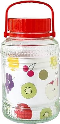 リビング 保存容器 キャニスター 梅酒 びん ガラス Lサイズ 目安容量約 8.0L 径20×高さ35cm 果実酒 づくり