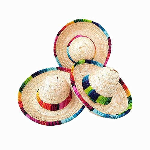 Crazy Night Natural Straw Mini Sombrero New Design Mini Mexican hat 1cb06f9e6397