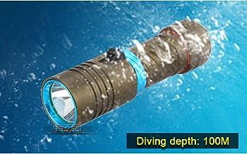 Flashlight High Power LED Waterproof Scuba Diving Flashlight Underwater Torch 10000LM LED Aluminum Stepless Adjust Brightn...