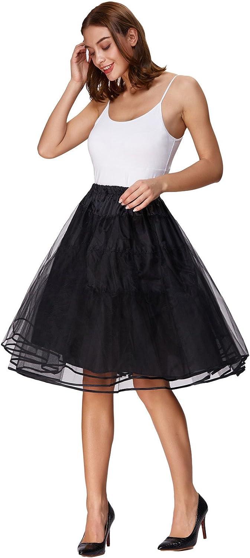 1950s Petticoat History Belle Poque Womens Petticoat Crinoline 50s Christmas Tutu Underskirts (3 Layers)  AT vintagedancer.com