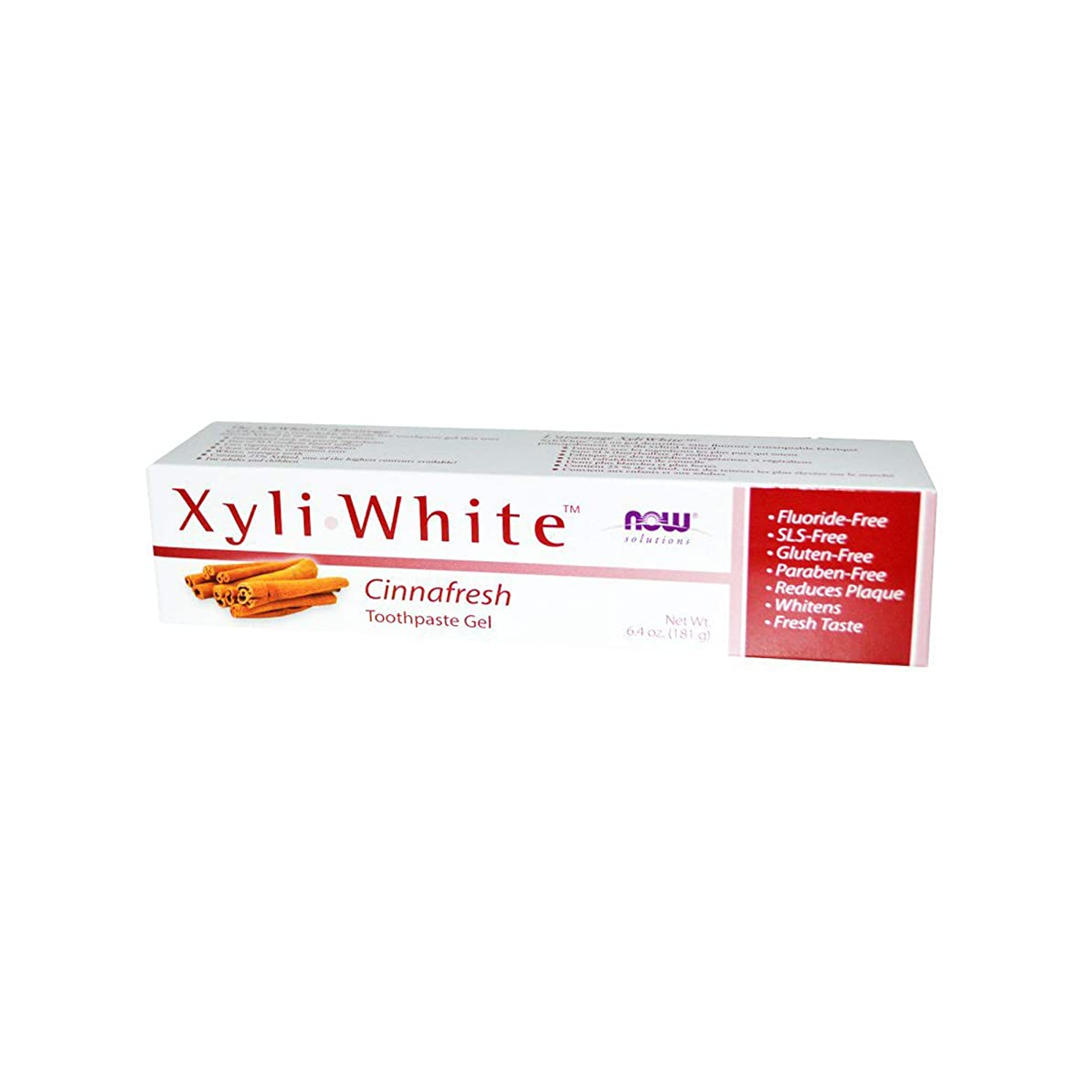 海外直送品 Now Foods XYLIWHITE TOOTHPASTE, 6.4 oz NATURAL-CINNAMON