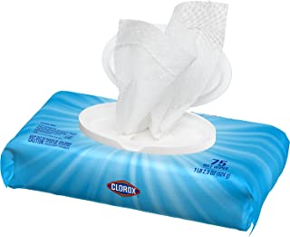 Clorox Disinfecting Wipes, Crisp Lemon - 75 Wipes (31404), Package may vary